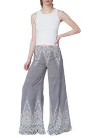 OHLENDORF atelier Graphic Palazzo Pant - Front cropped