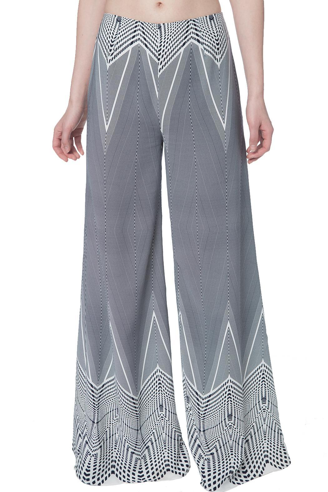 OHLENDORF atelier Graphic Palazzo Pant - Front Full Image