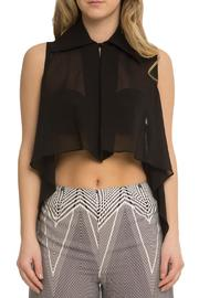 OHLENDORF atelier High-Low Sheer Blouse - Product Mini Image