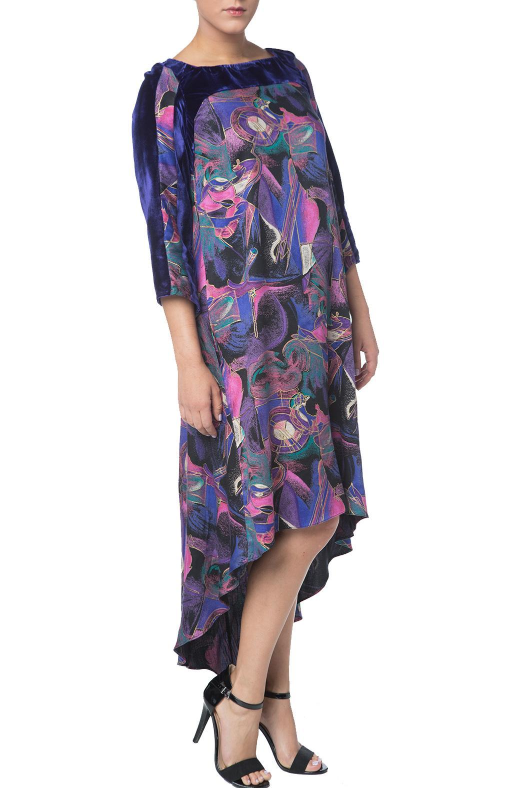 OHLENDORF atelier Rayon Print Dress - Front Full Image