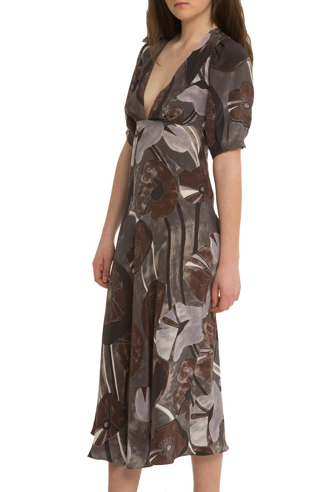 OHLENDORF atelier Silk Floral Dress - Front Cropped Image