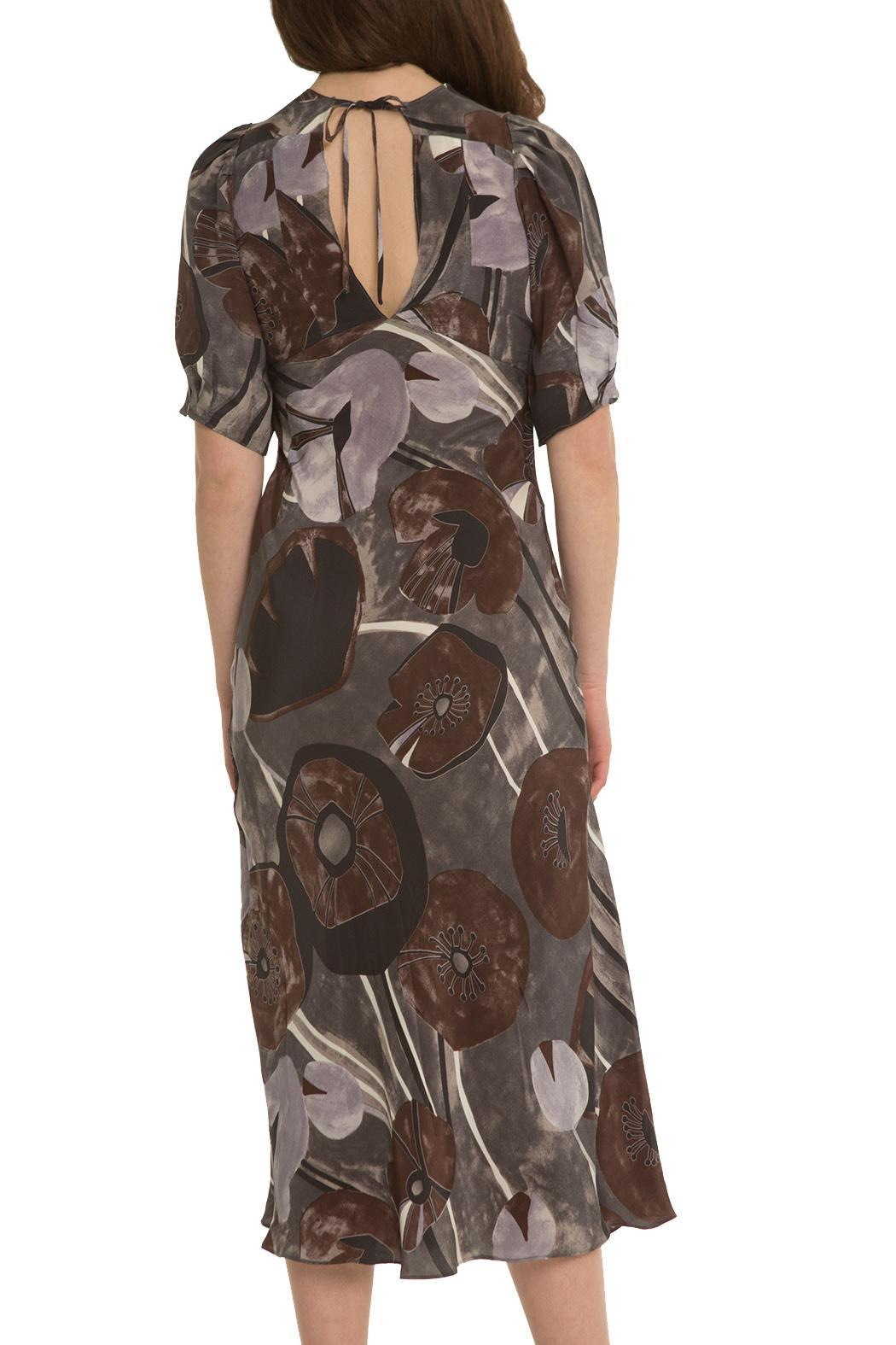 OHLENDORF atelier Silk Floral Dress - Side Cropped Image