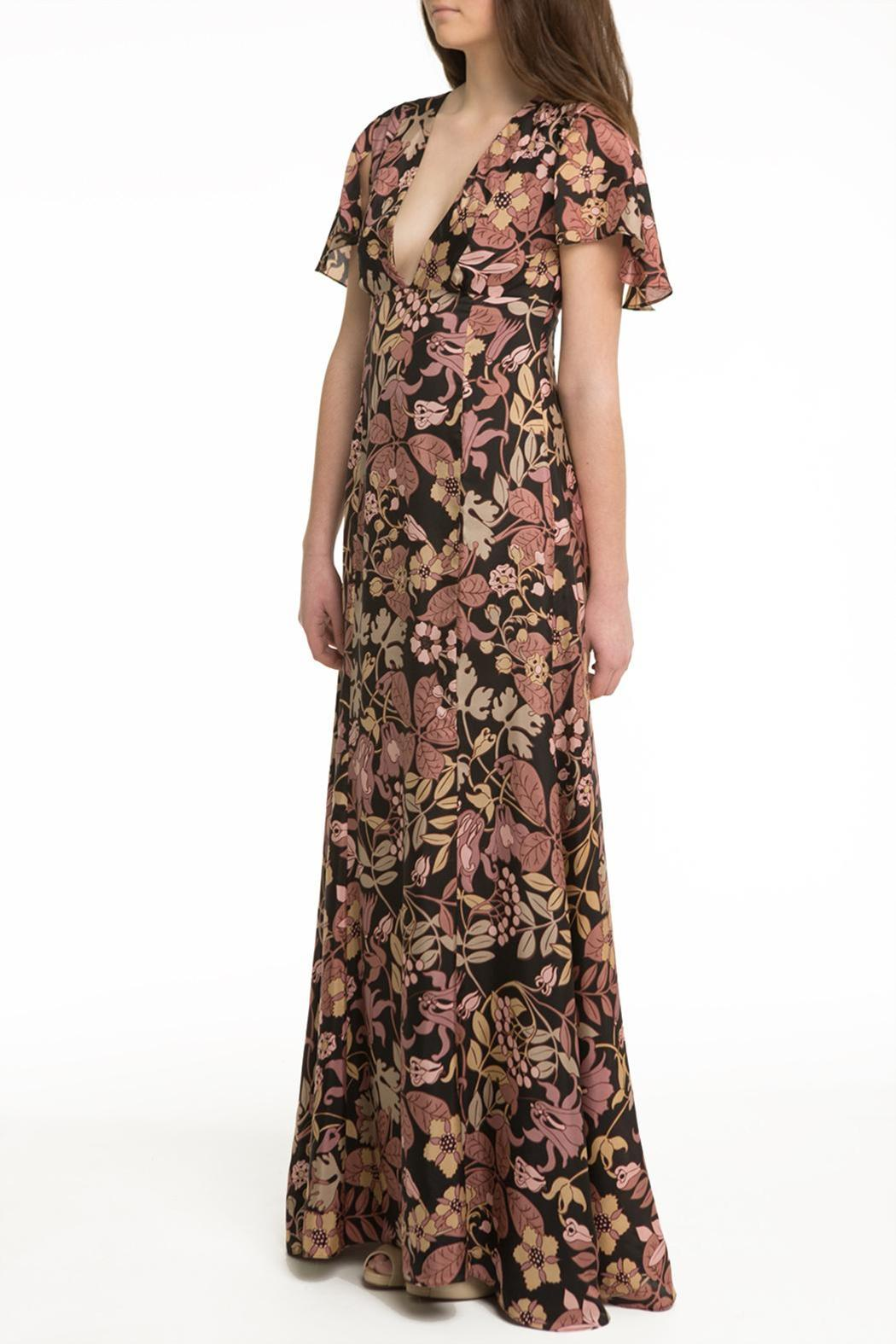 OHLENDORF atelier Floral Silk Maxi - Front Full Image