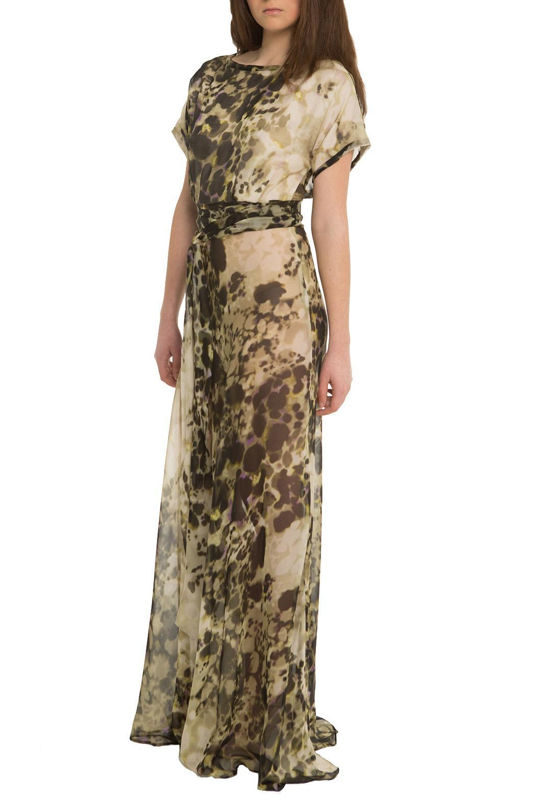 OHLENDORF atelier Silk Print Maxi - Front Cropped Image