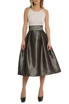 Shoptiques Product: Silver Taffeta Ball-Skirt