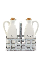 Mud Pie Oil-And-Vinegar Dressing Decanters - Front cropped