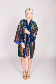 Any Old Iron Oil Slick Kimono - Product Mini Image