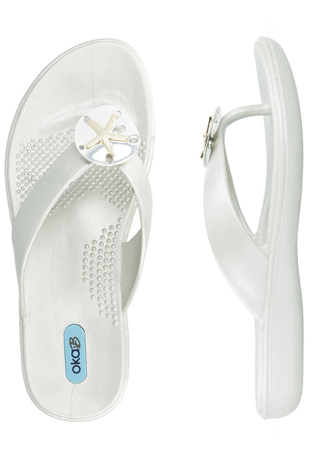 Oka B Fashion Sandy Flipflop - Side Cropped Image