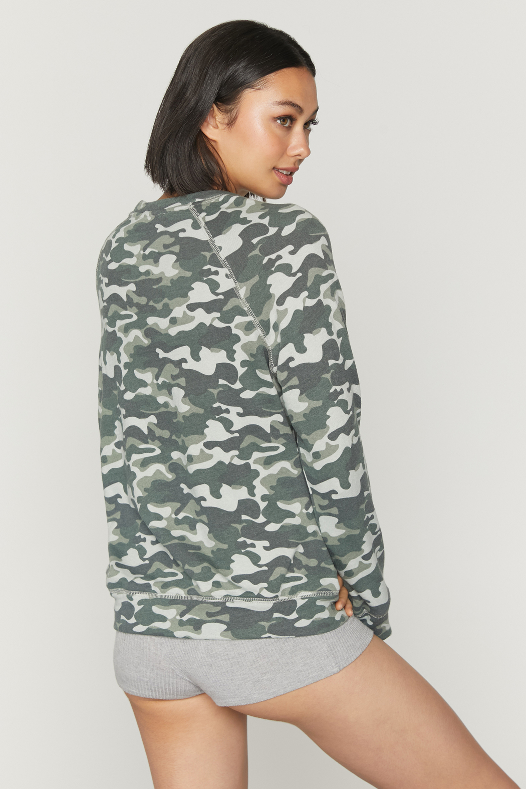 Spiritual Gangster  Old School Camo Pullover - Side Cropped Image