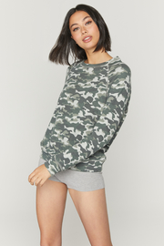 Spiritual Gangster  Old School Camo Pullover - Product Mini Image