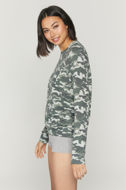 Spiritual Gangster  Old School Camo Pullover - Front full body