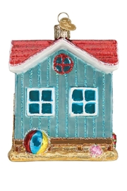 Old World Christmas Beach House Ornament - Front full body