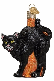 Old World Christmas Black Cat Ornament - Front cropped