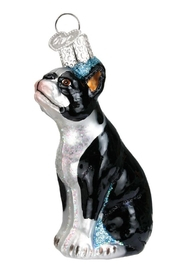 Old World Christmas Boston Terrier Ornament - Front cropped