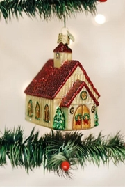Old World Christmas Christmas Chapel Ornament - Front cropped