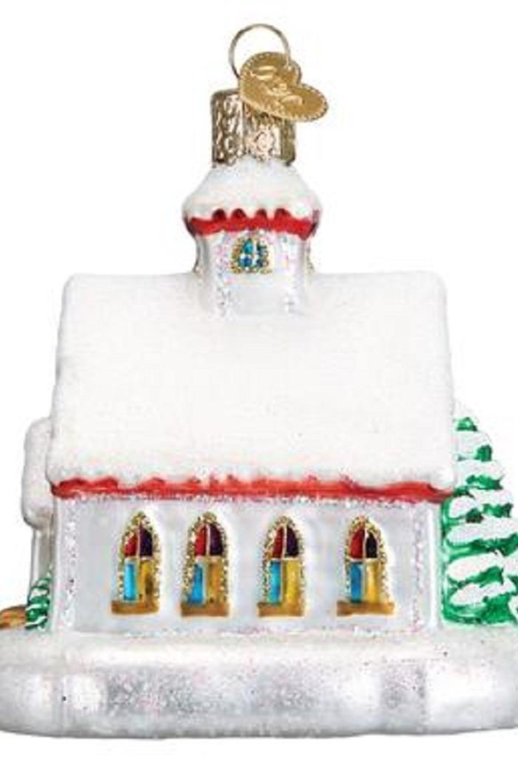 Old World Christmas Country Church Ornament - Side Cropped Image