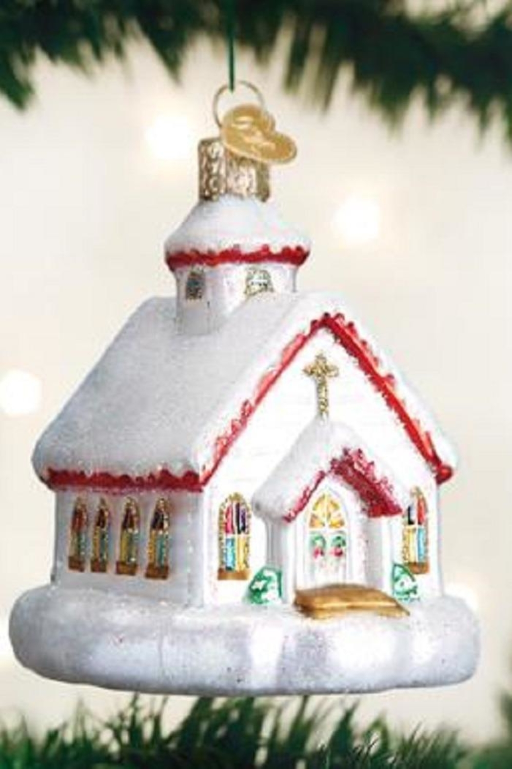 Old World Christmas Country Church Ornament - Main Image