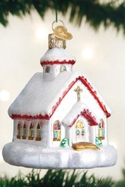 Old World Christmas Country Church Ornament - Front cropped