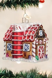 Old World Christmas Gingerbread Barn - Front cropped