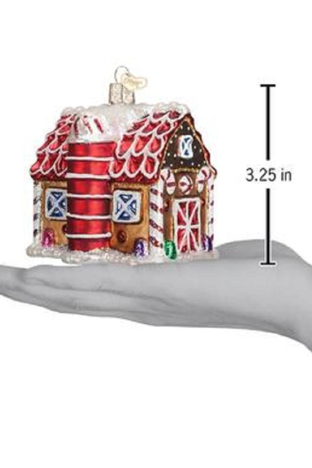 Old World Christmas Gingerbread Barn - Front Full Image