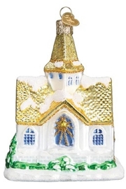 Old World Christmas Golden Roof Cathedral - Front full body