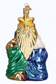 Old World Christmas Holy Family Ornament - Front full body