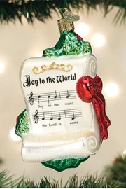 Old World Christmas Joy To The World Ornament - Front cropped