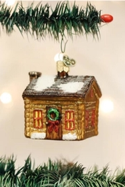 Old World Christmas Log Cabin Ornament - Product Mini Image