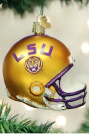 Old World Christmas Lsu Helmet Ornament - Front cropped