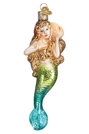 Old World Christmas Mermaid Glass Ornament - Front cropped