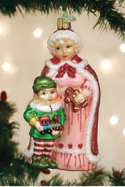 Old World Christmas Mrs Claus With Elf - Product Mini Image