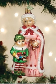 Old World Christmas Mrs Claus With Elf - Front cropped