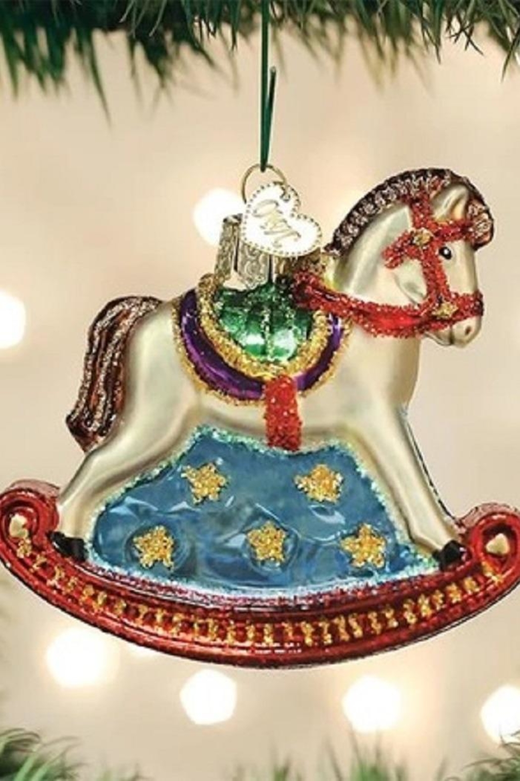 Old World Christmas Rocking Horse Ornament - Main Image