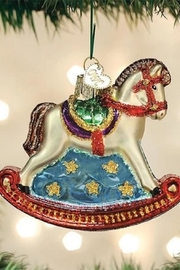 Old World Christmas Rocking Horse Ornament - Front cropped
