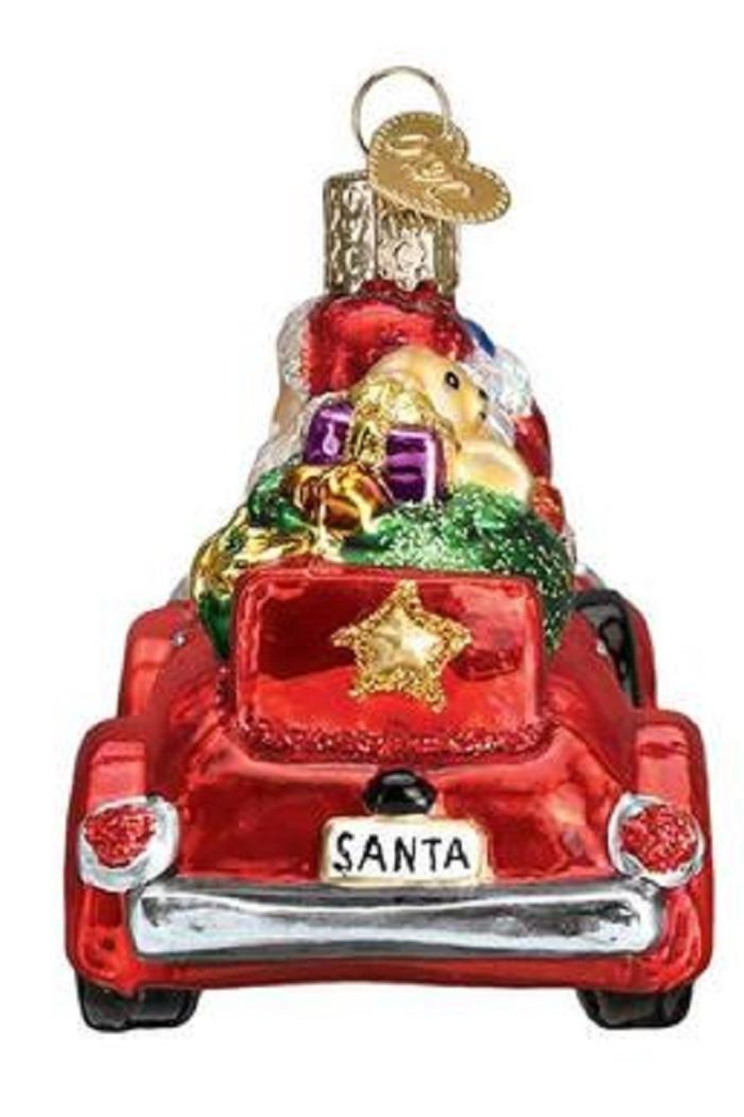 Old World Christmas Santa In Antique Car - Side Cropped Image