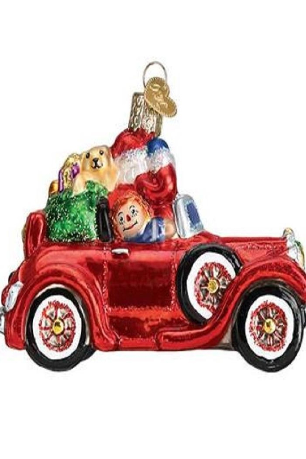 Old World Christmas Santa In Antique Car - Front Full Image