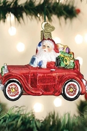 Old World Christmas Santa In Antique Car - Front cropped