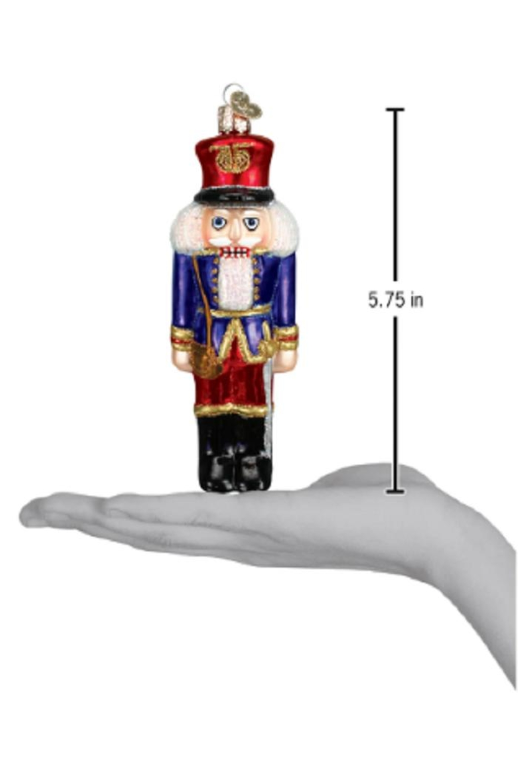 Old World Christmas Soldier Nutcracker Ornament - Front Full Image