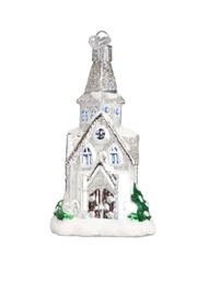 Old World Christmas Sparkling Cathedral Ornament - Side cropped