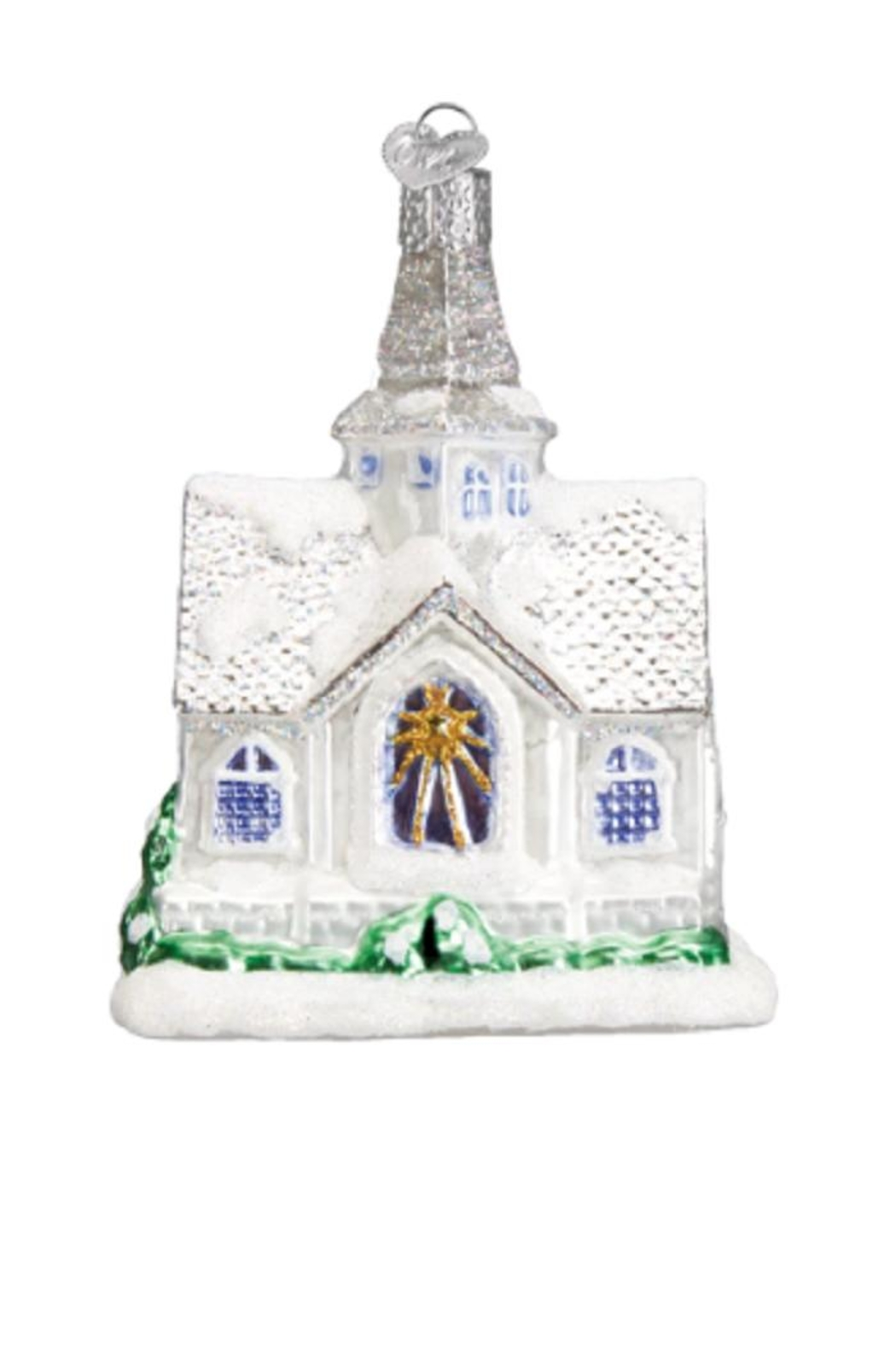 Old World Christmas Sparkling Cathedral Ornament - Front Full Image