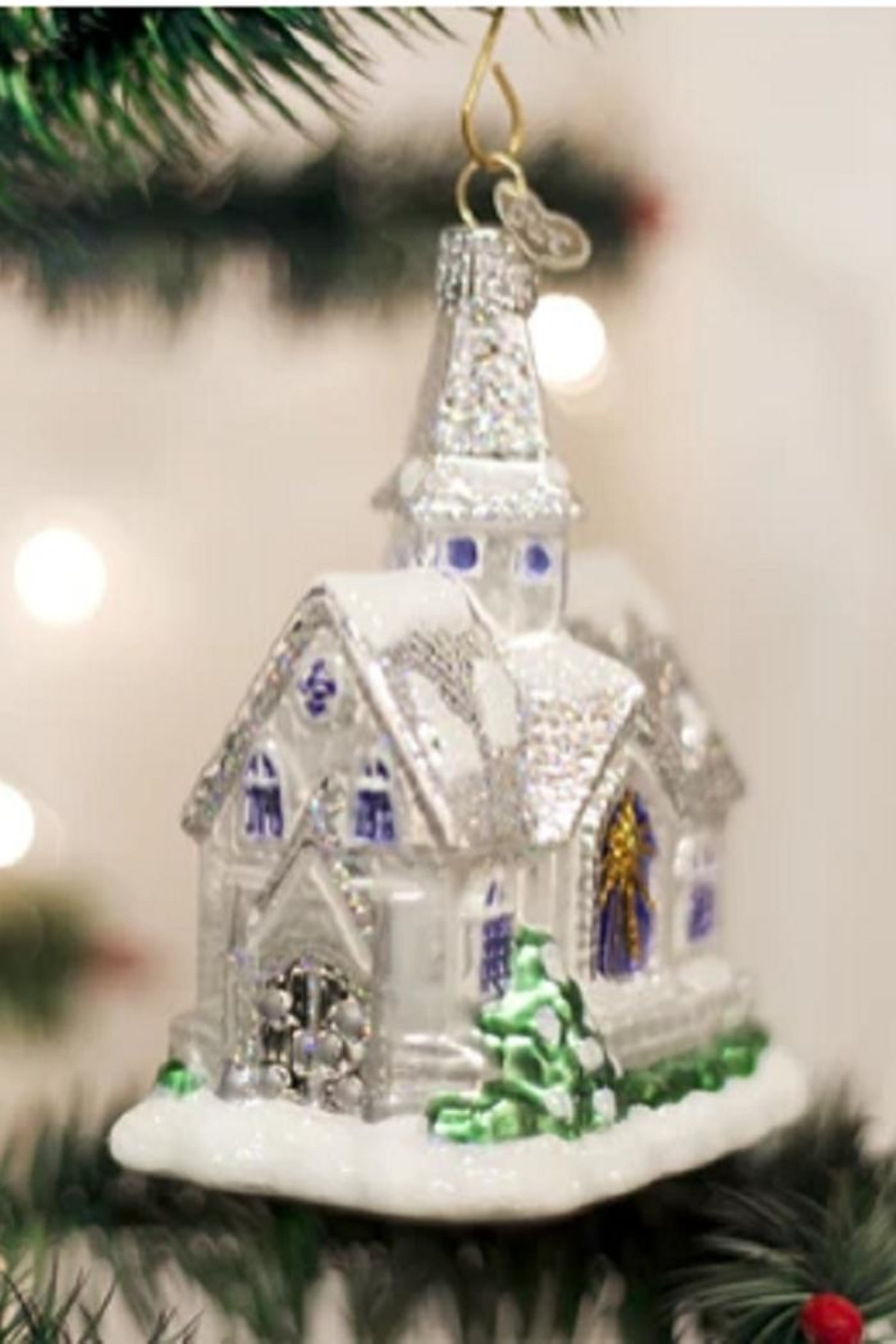 Old World Christmas Sparkling Cathedral Ornament - Main Image