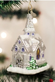 Old World Christmas Sparkling Cathedral Ornament - Product Mini Image
