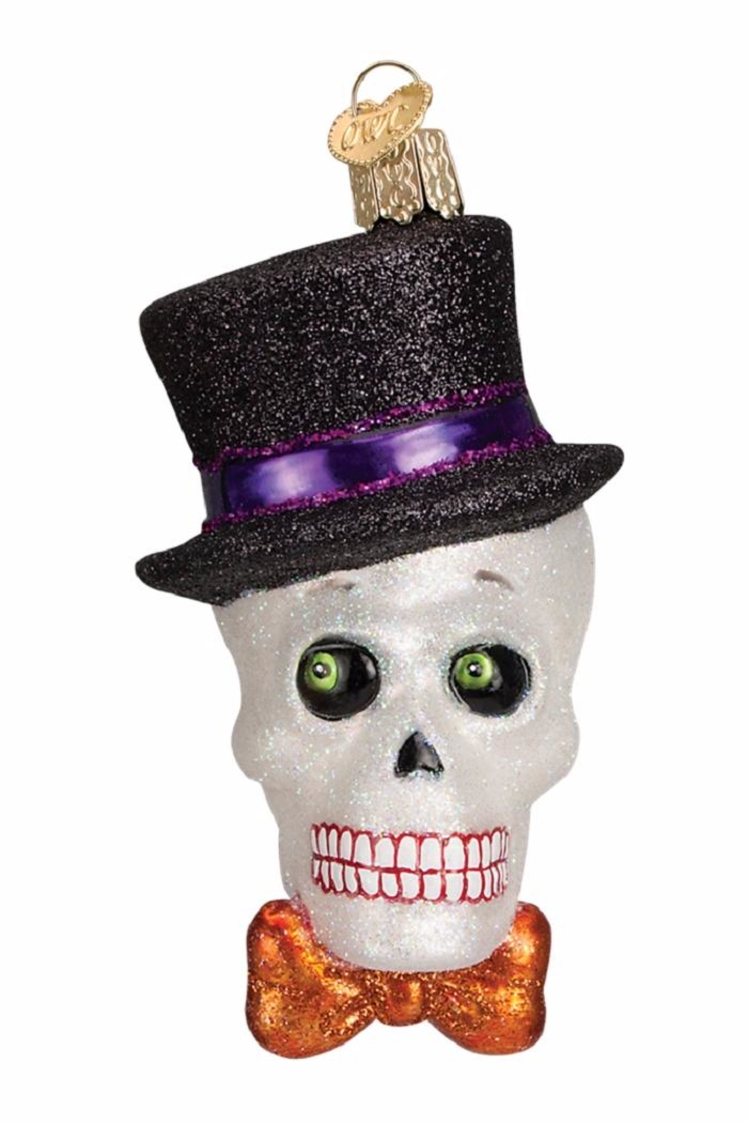 Old World Christmas Top Hat Skeleton - Front Cropped Image