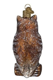 Old World Christmas Vintage Wise Old Owl - Front full body