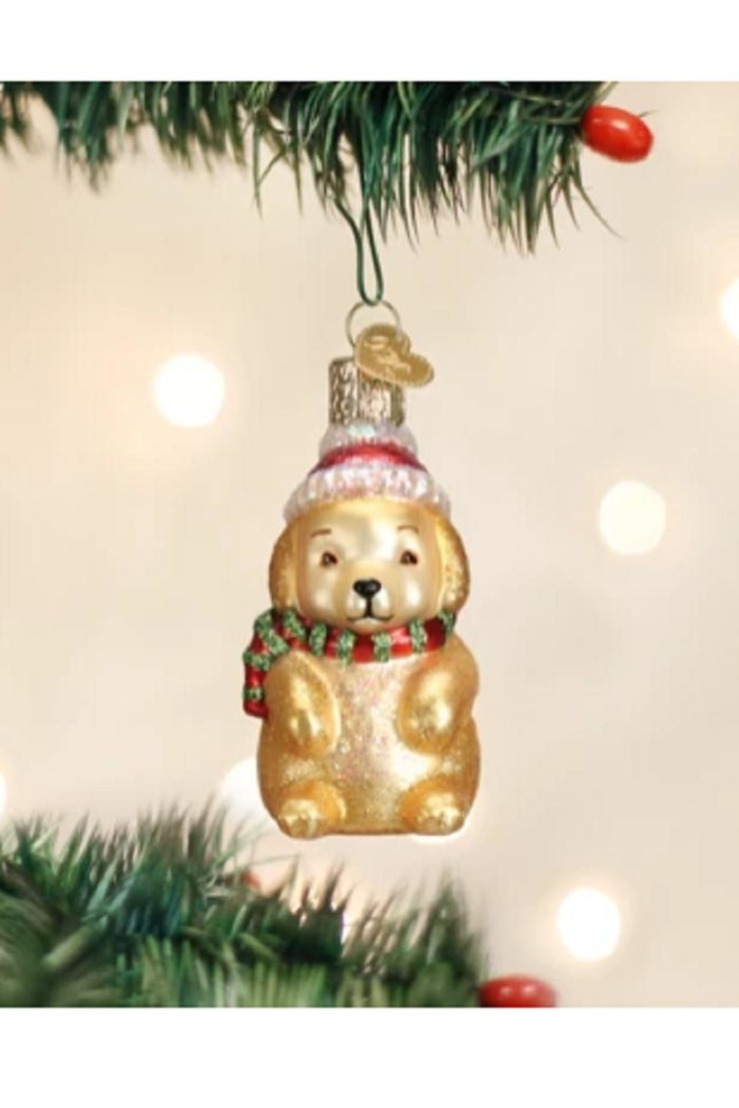 Old World Christmas Winter Puppy Ornament - Main Image