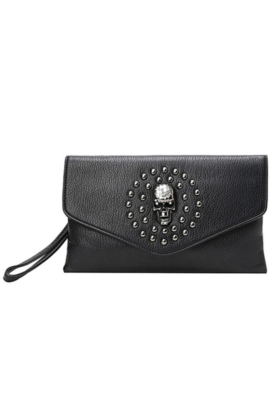 Ole' Skull And Studs Crossbody Bag - Front Full Image