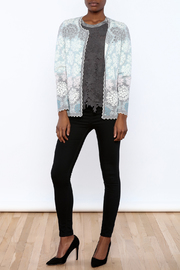 Oleana Floral Nordic Cardi - Front full body