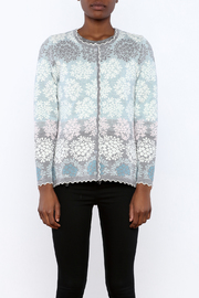 Oleana Floral Nordic Cardi - Side cropped