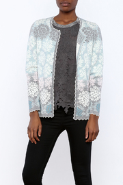 Oleana Floral Nordic Cardi - Front cropped