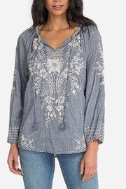 Johnny Was Oleander  Blouse Denim - Product Mini Image